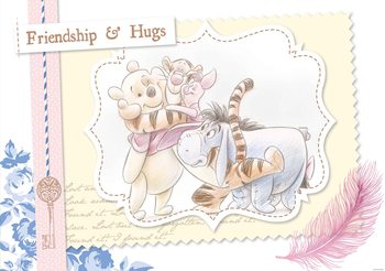 Disney Winnie Pooh Piglet Tigger Eeyore Fali tapéta
