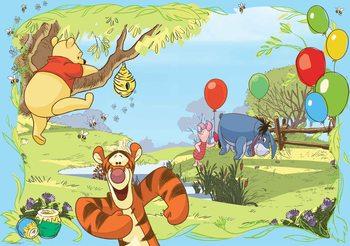 Disney Winnie Pooh Tigger Eeyore Piglet Fali tapéta