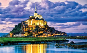 France Mont Saint Michel Fali tapéta