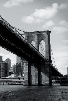 New York - Brooklyn Bridge Fali tapéta