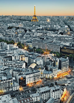 PARIS AERIEL VIEW Fali tapéta