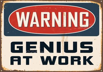 Retro Poster Genius Fali tapéta