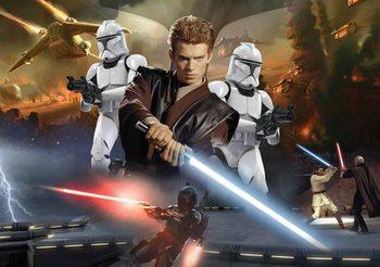 Star Wars Attack Clones Anakin Skywalker Fali tapéta