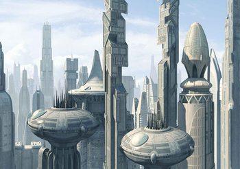 Star Wars City Coruscant Fali tapéta