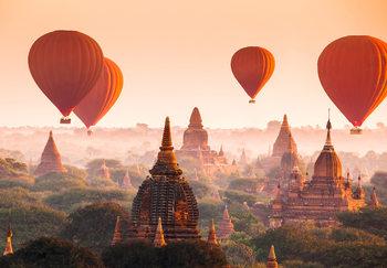 Ballons over Bagan Fototapeta