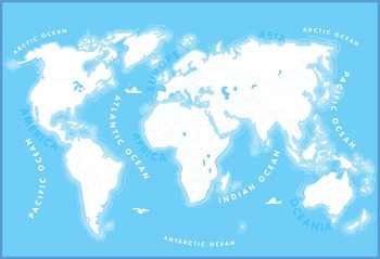 Mapa světa pre deti Fototapeta