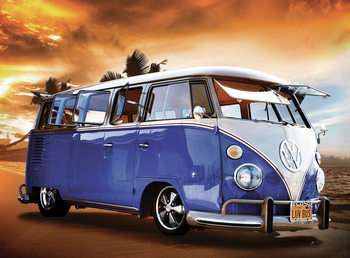 Volkswagen - Camper Van Sunset Fototapeta