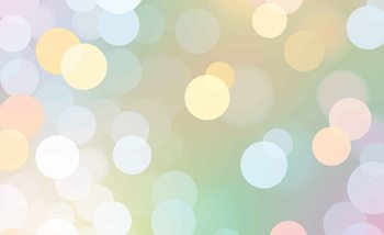 Abstraktes Bokeh Muster Pastellfarben Fototapete