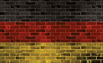 Backstein Deutsch Flag Fototapete