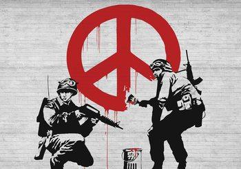 Banksy Graffiti Krieg Frieden Fototapete