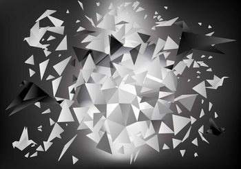 Explosion Vögel Abstrakt Fototapete