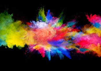 Farbe Explosion Fototapete