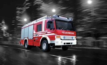 Feuerwehr Auto Fototapete