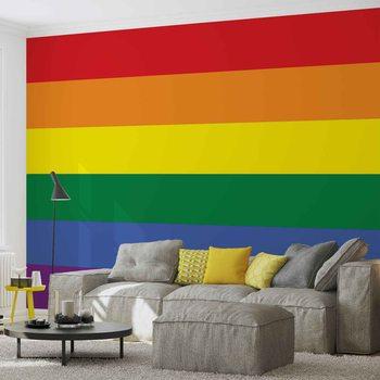 Flagge Regenbogen Homosexuell Pride Fototapete