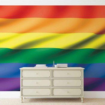 Flagge Regenbogen Schwul Lesbisch Fototapete