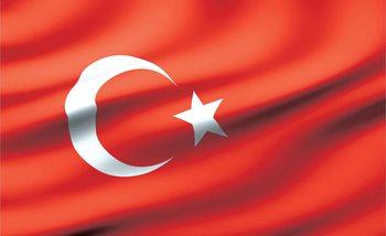 Flagge Tuerkei Fototapete