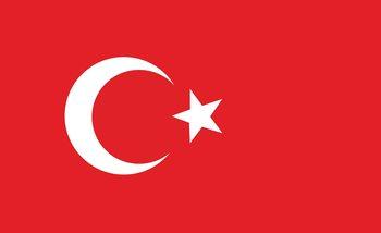 Flagge Türkei Fototapete