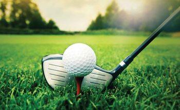 Golf Ball Golfschläger Fototapete