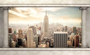 New York City View Säulen Fototapete