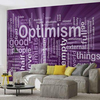 Optimismus Worte Abstrakt Fototapete
