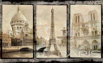 Paris Stadt Vintage Bilder Fototapete