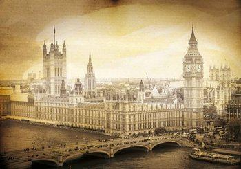 Sepia Westminster-Palast Fototapete