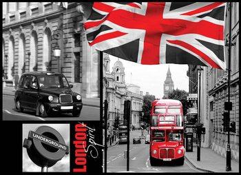 Stadt London Bus Taxi Underground Fototapete