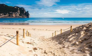 Strand Weg Natur See Sand Klippe Fototapete