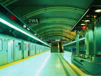 U-Bahn - Metro Fototapete