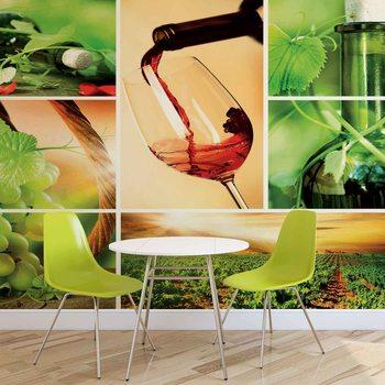 Wein Trauben Weinberg Fototapete