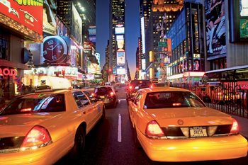New York - taxi Fototapet
