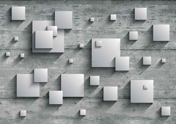Abstrakcyjne Nowoczesne Szare Srebro Fototapeta