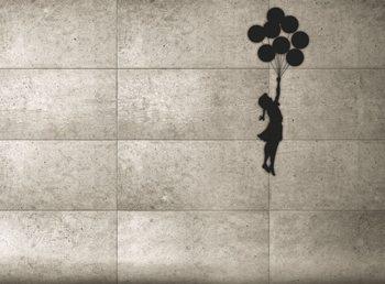 Fototapeta Banksy - Balloon Girl