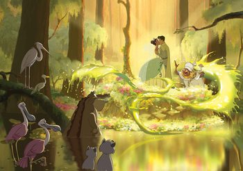 Disney Princesses Tiana Frog Kiss Fototapeta