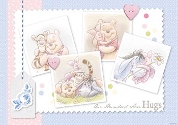 Disney Winnie Pooh Piglet Eeyore Tigger Fototapeta