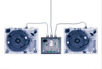 Fototapeta DJ mixážní pult - rentgen