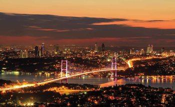 Fototapeta Istanbul výhľad na mesto v noci
