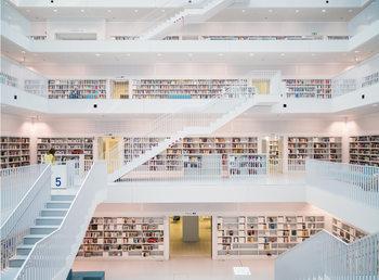 Fototapeta Knihovna - White