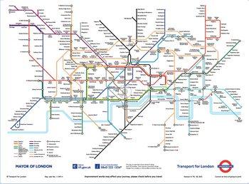 Fototapeta  Londýnské Metro - mapa Londýnského metra