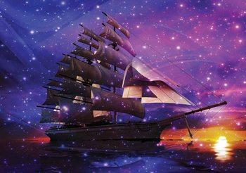 Statek żaglowy Fototapeta