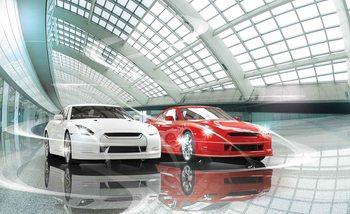 Transport samochodów Fototapeta