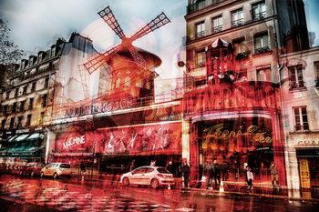 Glasschilderij Paris - Moulin Rouge