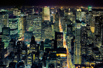 HENRI SILBERMAN - NYC  from the empire state building плакат