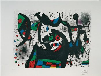 Homage to Joan Prats, 1975 Festmény reprodukció