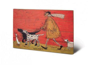 Sam Toft - Walkies kunst op hout