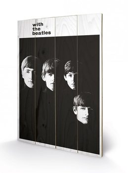 The Beatles - With The Beatles kunst op hout