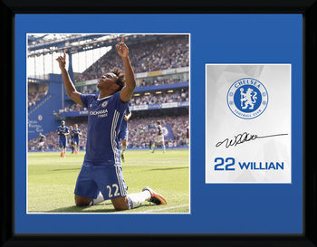 Chelsea - Willian 16/17 indrammet plakat