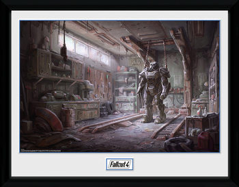 Fallout 4 - Red Rocket Interior indrammet plakat