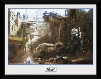 Fallout 4 - Vertical Slice indrammet plakat