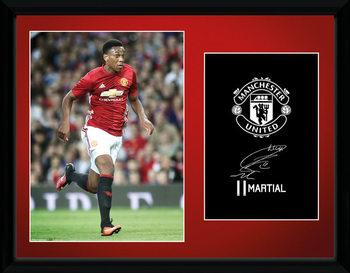Manchester United - Martial 16/17 indrammet plakat